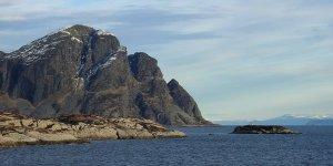 Monte Norskehesten desde el sur