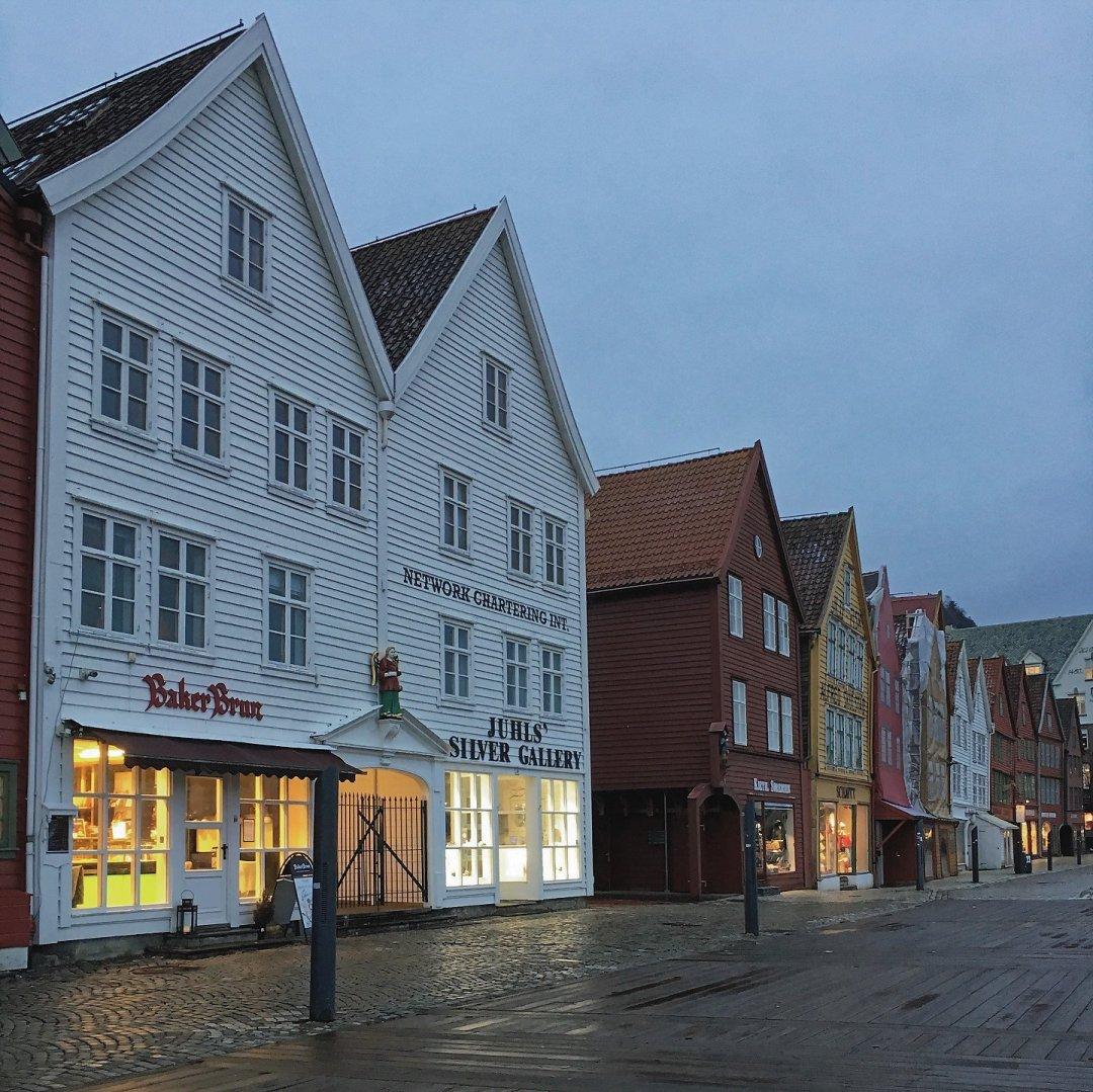 Fachadas de Bryggen