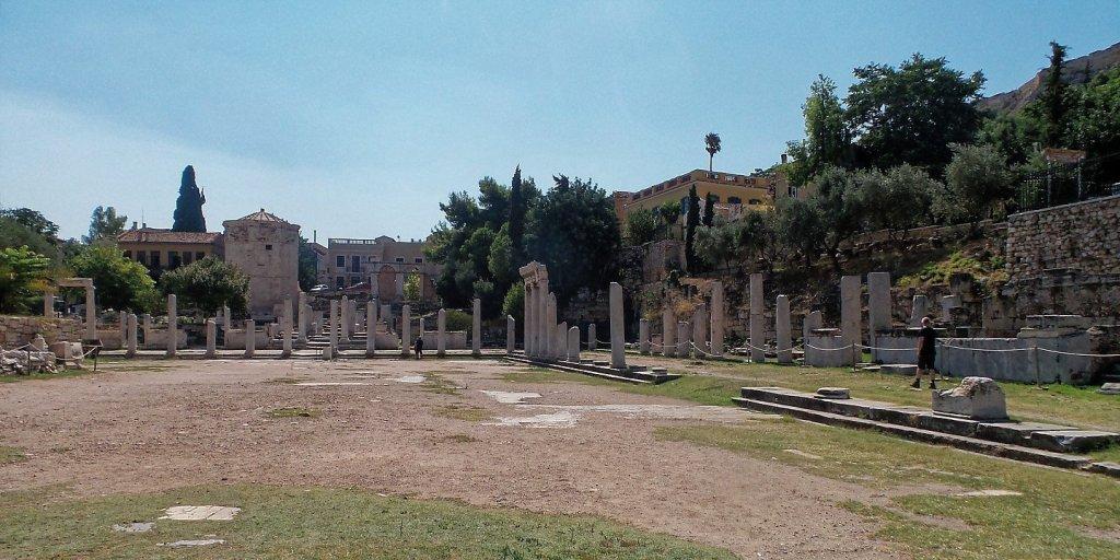 Vista general del Ágora Romana