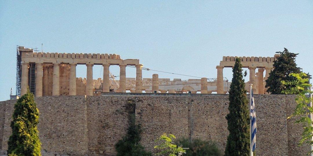 El Partenón desde el hotel Herodion