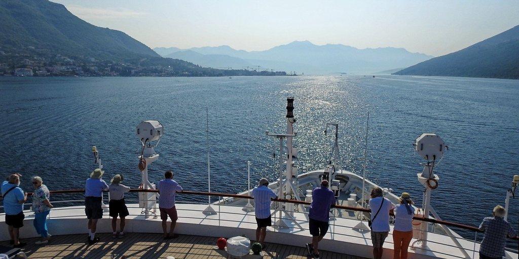 Llegando al estrecho de Kumbor
