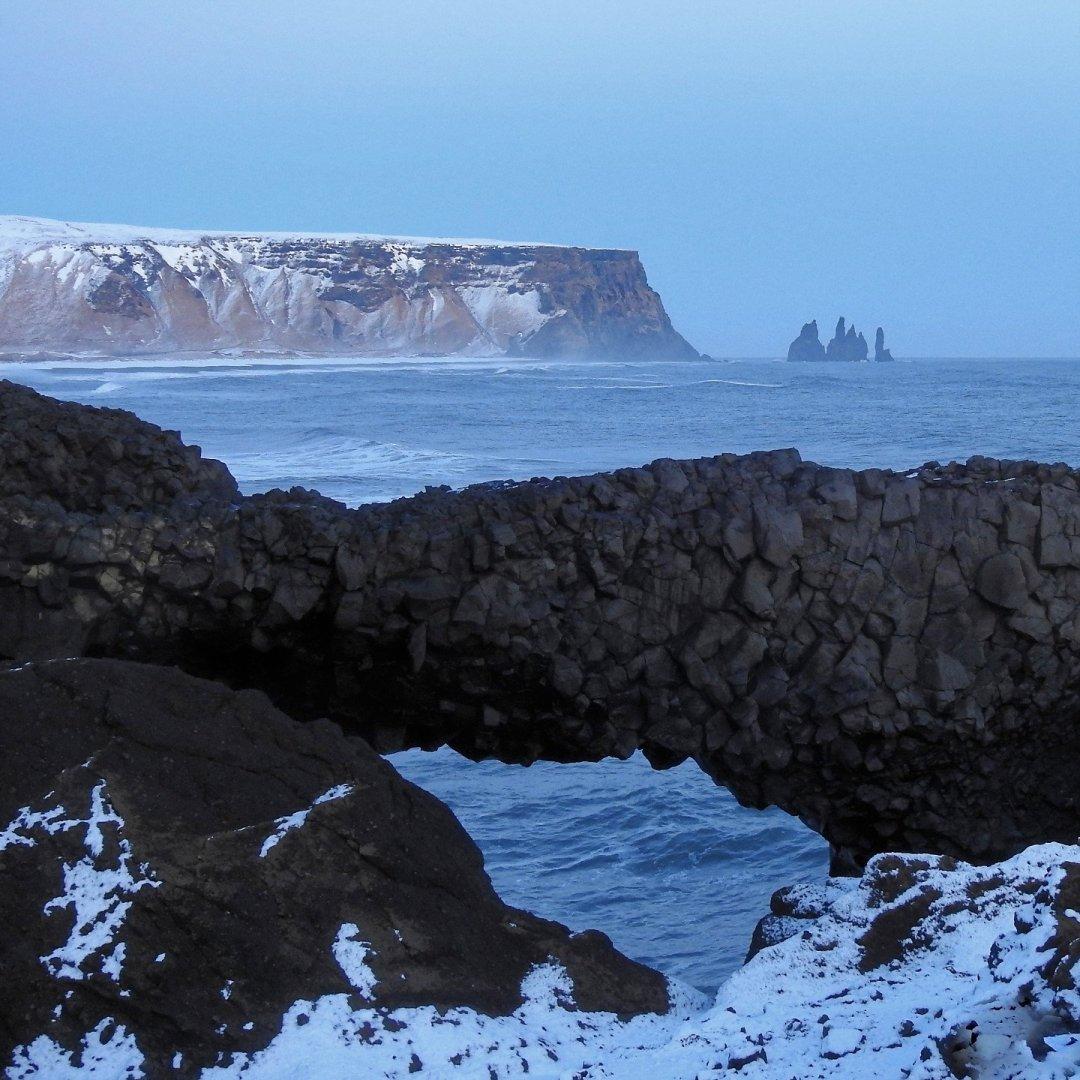 Arco de lava en Dyrhólaey
