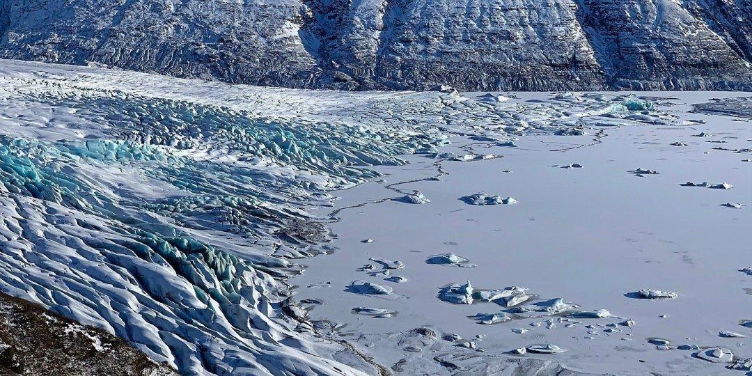 Laguna y tramo final del Skaftafellsjökull