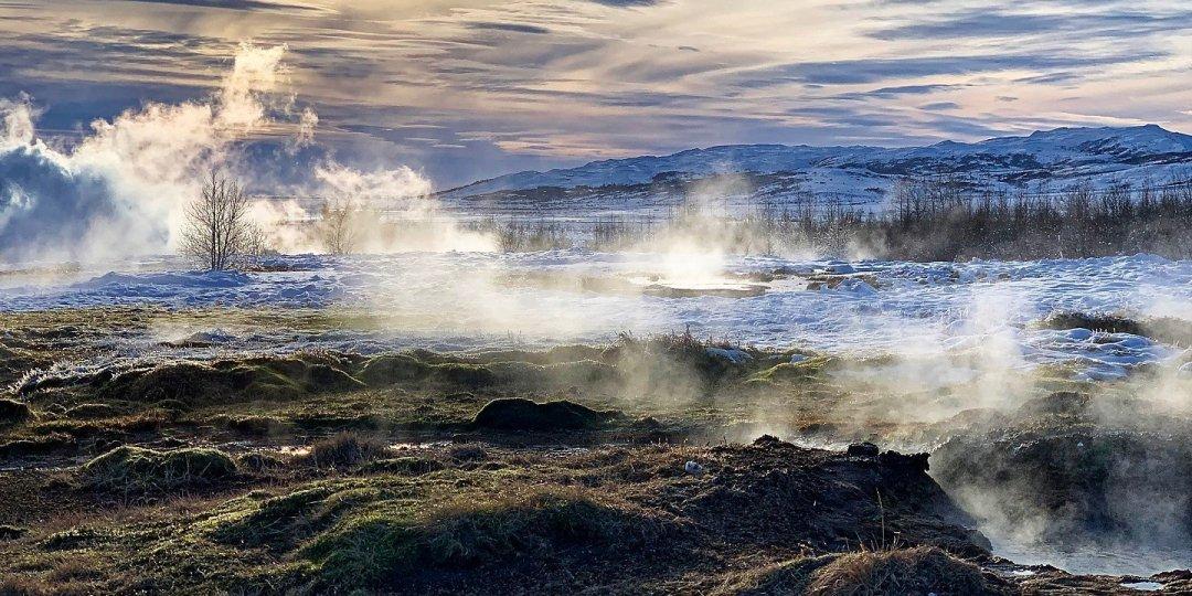 Nubes de vapor en Haukadalur