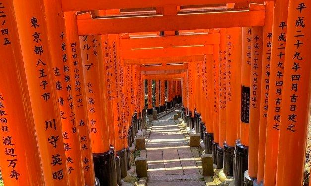 Entre los torii de Fushimi Inari