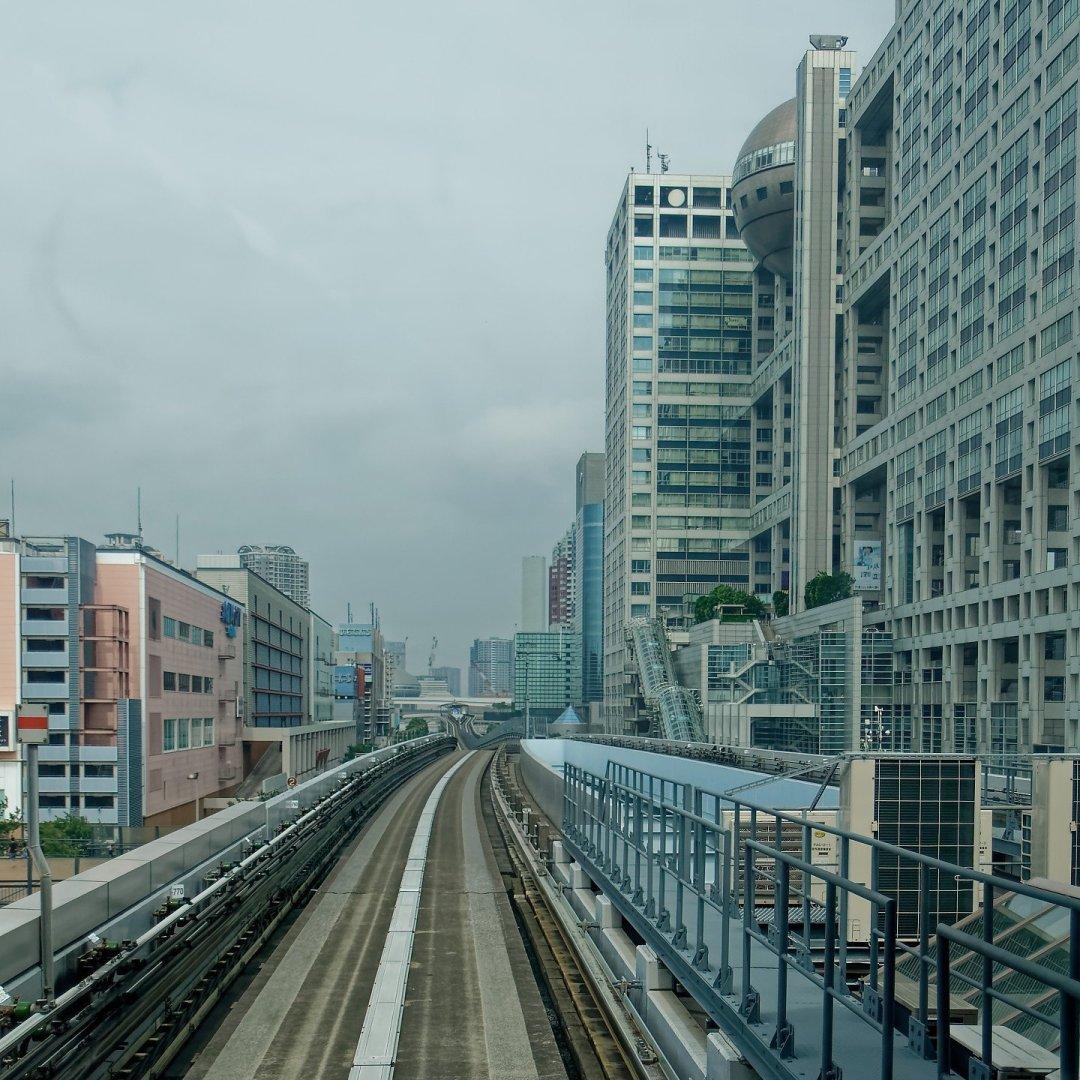 Entre Aqua City y Fuji Television Network