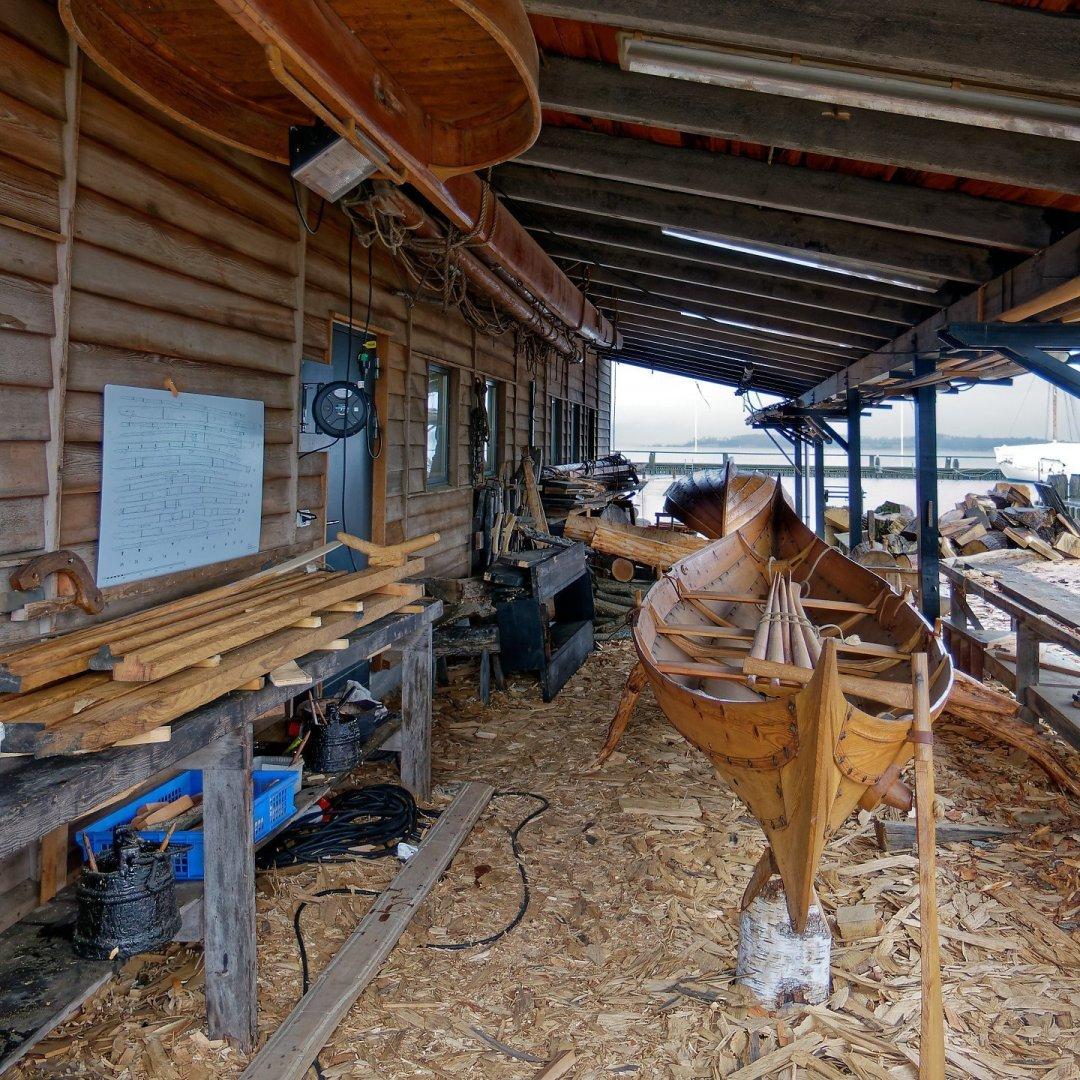 Reconstrucción de uno de los botes del barco de Gokstad