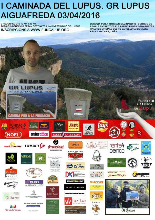 Cartel Caminata Aiguafreda 2016