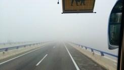 La niebla nos acompañó durante el trayecto