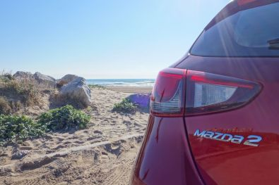 Mazda 2 2015 Heckscheinwerfer Rubinrot