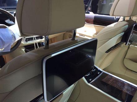 BMW 7er 2015 Bildschirm Rücksitze