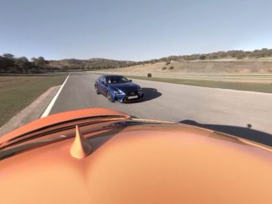 Lexus RC F Virtual Reality App Heckansicht
