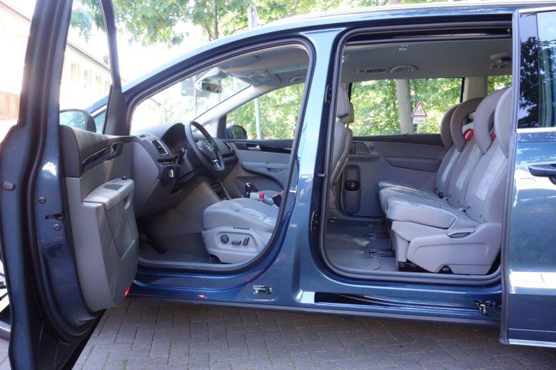 VW Sharan 2015 Innenraum Fond