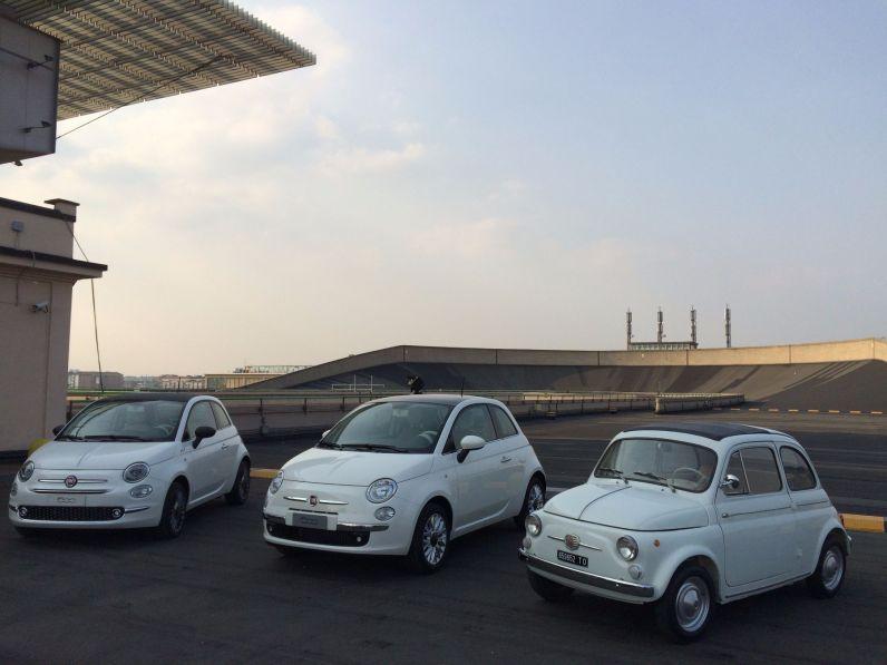 Fiat 500 1957 2007 2015 im Vergleich