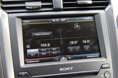 Ford Mondeo 2015 Touchscreen Hauptbildschirm