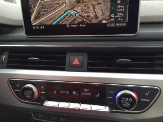 Audi A4 2015 Mittelkonsole lüftungssteuerung