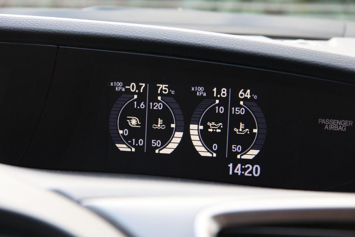 Honda Civic Type R 2015 Anzeige Temperatur