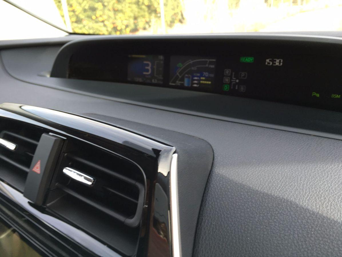 Obere Display-Ebene für Fahr- und Verbrauchsdaten