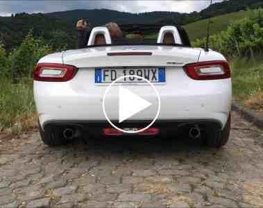 Sightseeing-Tour um den neuen Fiat 124 Spider Lusso