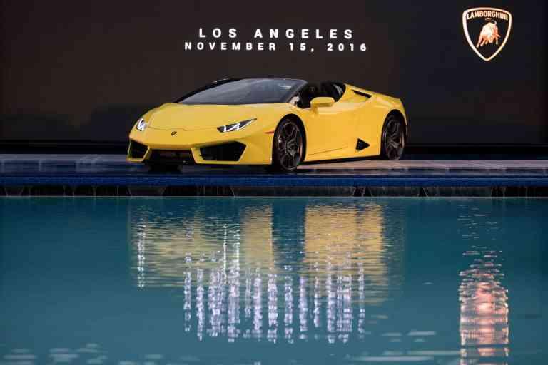 Lamborghini zeigt den Huracán RWD Spyder in Los Angeles