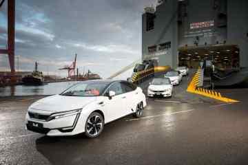 Honda bringt die ersten Clarity Fuel Cell nach Europa