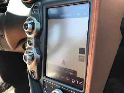 McLaren 720S Navigationsdisplay