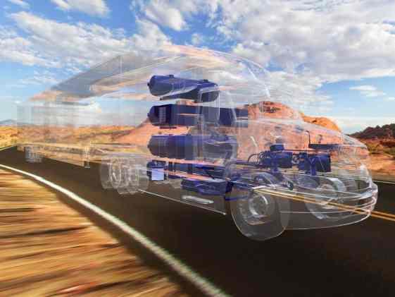 Konzeptfahrzeug: Kenworth Glider mit Brennstoffzellenantrieb von Toyota.