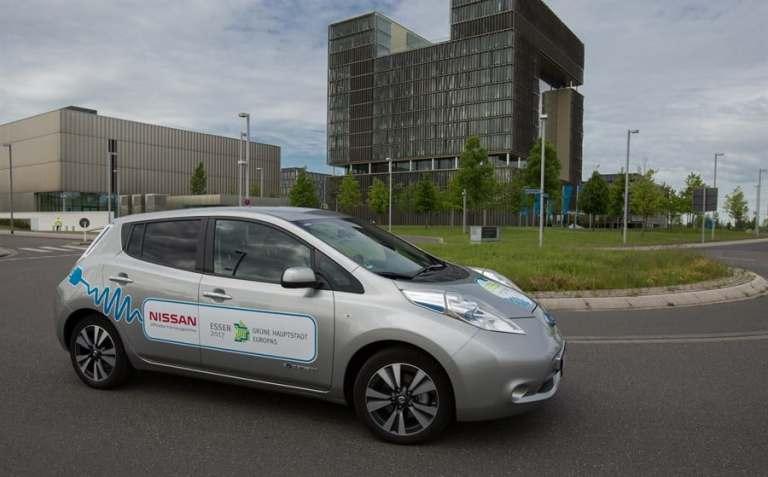 Nissan spendiert Essener Rathaus EV-Ladeboxen
