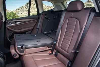 BMW X3, 3. Generation, Rücksitze