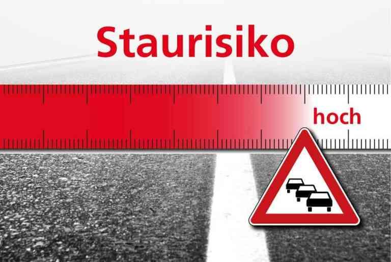 Stauprognose: Autofahrer sehen rot