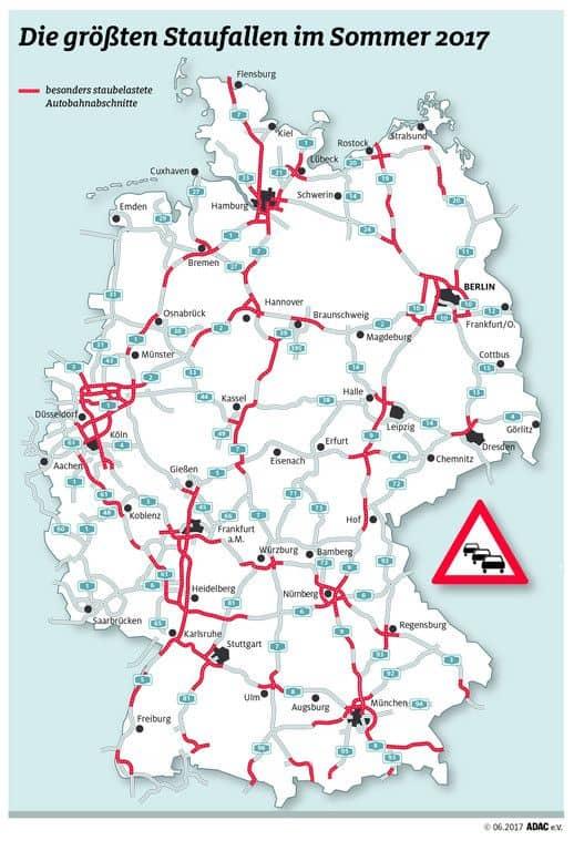 Verkehrsprognose fürs Wochenende: Staustufe Rot