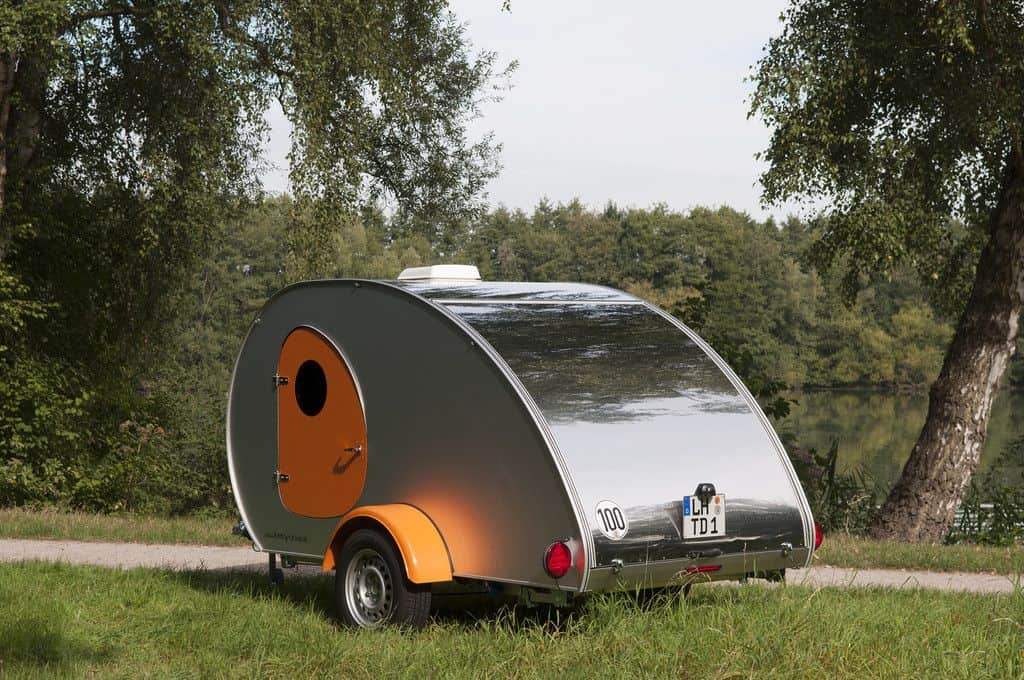 Teardrop Caravan als stylischer Retro-Wohnwagen
