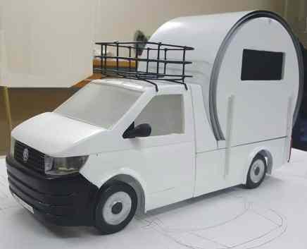 Geplanter Wohnaufbau von Beau-Er für den Volkswagen T6