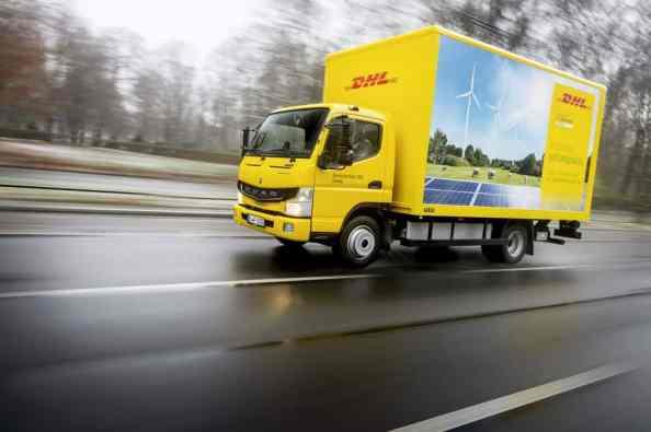 Fuso E-Canter von DHL in Berlin.