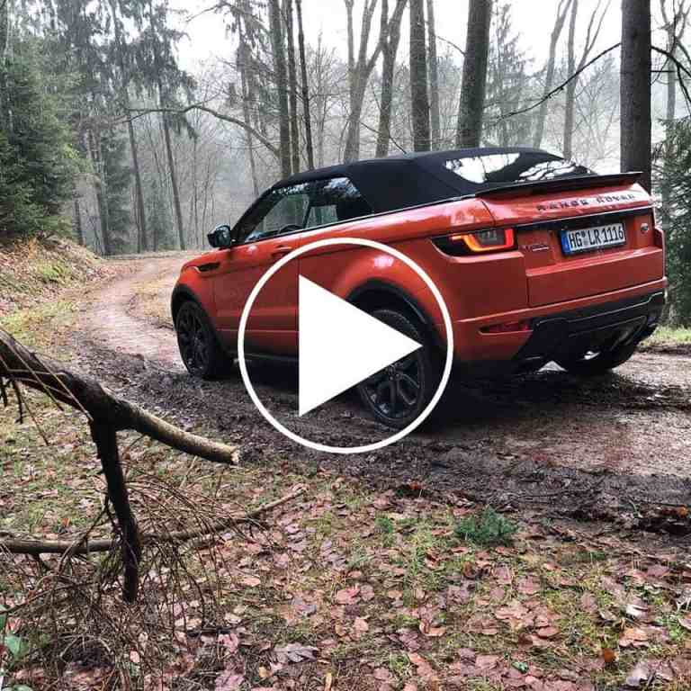 Mit dem Range Rover Evoque Cabrio unterwegs