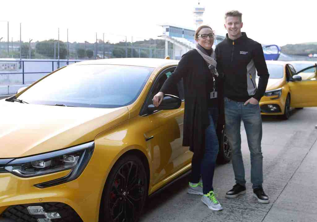 Nele Korn, Niko Hülkenberg, Renault Megane Rs