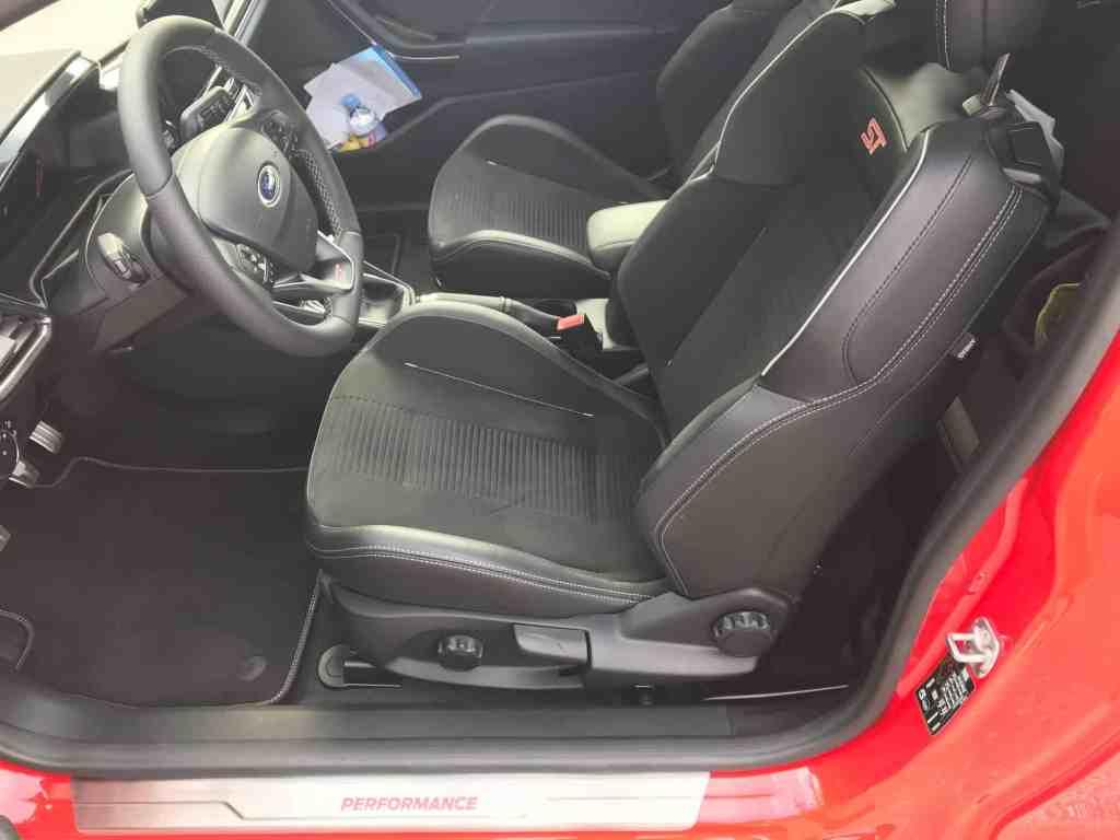 Ford Fiesta ST, Sportsitze