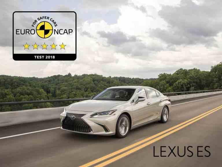 Fünf Sterne im Euro NCAP-Crashtest für den neuen Lexus ES