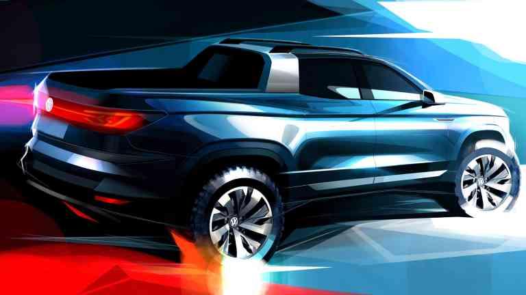 Volkswagen zeigt Pick-up-Studie mit variabler Ladefläche