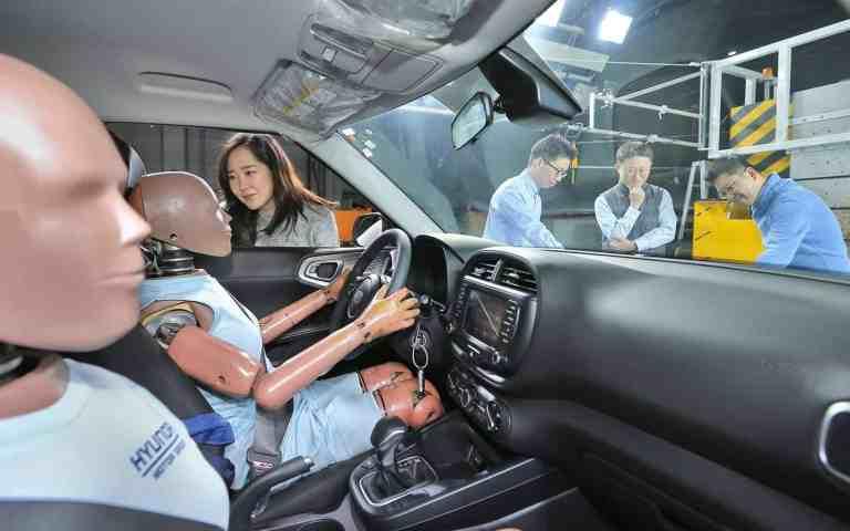 Neues Airbagsystem von Hyundai bietet zusätzlichen Schutz bei zweitem Aufprall