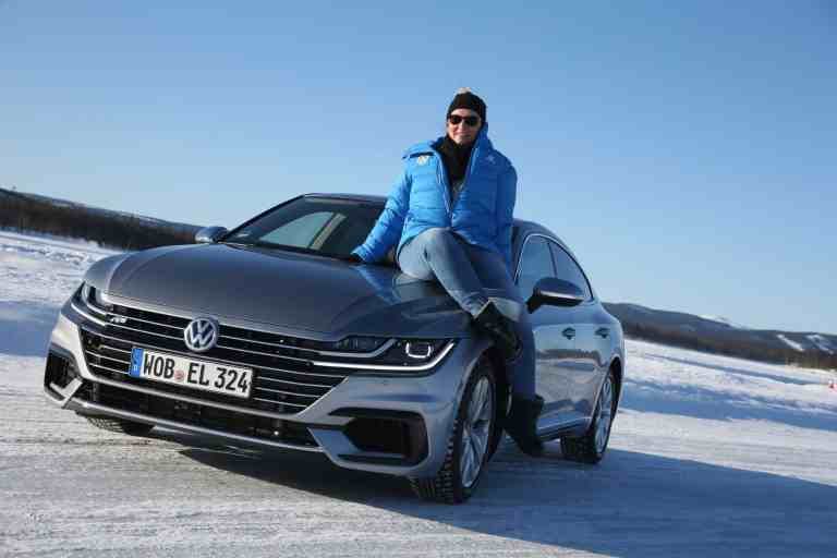 Eisdriften in Arvidsjaur, Volkswagen Driving Experience