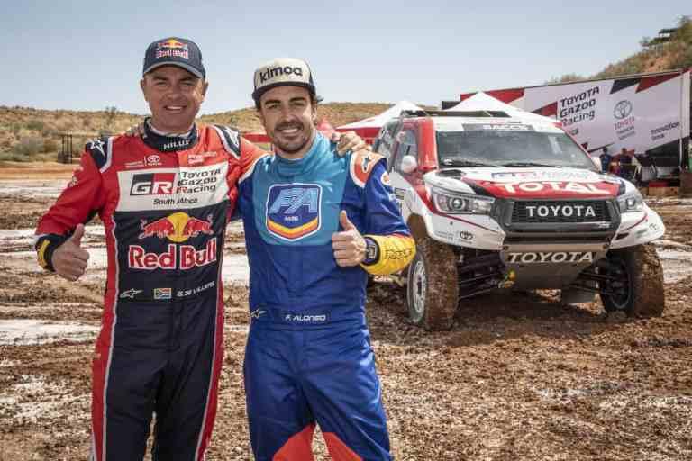 Glyn Hall, Teamchef von Toyota Gazoo Racing South Africa und Fernando Alonso