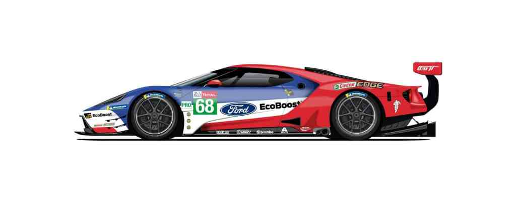 2016 errangen Dirk Müller (Burbach), Joey Hand (USA) und Sébastien Bourdais (F) mit der Startnummer 68 den jüngsten Le-Mans-Sieg für Ford.