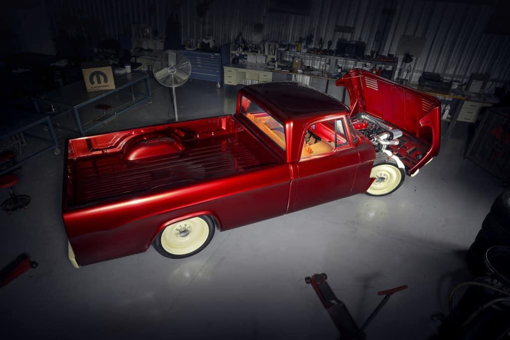"Dodge-Pickup (1968) ""Candied Delmonico Red and Dairy Cream Mopar Lowliner Concept""."
