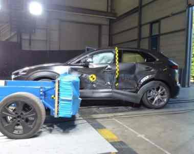 Mazda CX-30 im Euro-NCAP-Crashtest.