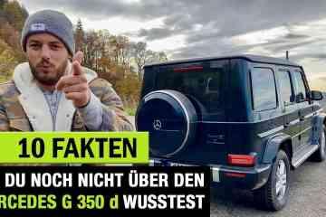 10 Fakten, die DU über die (2020) Mercedes-Benz G-Klasse wissen solltest, Jan Weizenecker