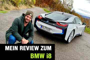 Neues BMW i8 Coupé (374 PS) - Plug-in-Hybrid Sportler im Video-Fahrbericht