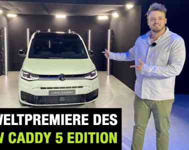 "Neue VW Caddy 5 ""Edition"" - Weltpremiere im Video, Jan Weizenecker"