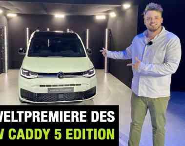 """Neue VW Caddy 5 """"Edition"""" - Weltpremiere im Video, Jan Weizenecker"""