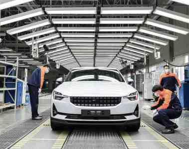 Polestar startet mit der Produktion von Polestar 2 in Luqiao, China.